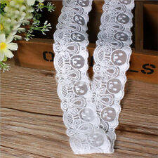 1 yd Embroidered Lace Edge Trimming Ribbon Applique Wedding Dress Sewing Craft