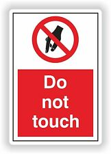 1x DO NOT TOUCH Warning Sticker for Bumper Car Laptop PC SUV Caravan Safety Door
