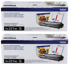 GENUINE OEM  BROTHER TN221BK BLACK TONER SET (2-PACK) MFC-9330CDW MFC-9340CDW