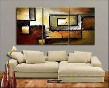 3pc MODERN ABSTRACT HUGE LARGE CANVAS ART OIL PAINTING (no framed)   N.012