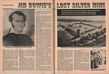 Jim Bowie's Lost Silver Mine @ Menard, TX & Genealogy