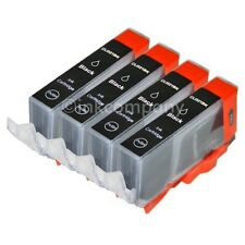 4 CANON Druckerpatronen mit Chip CLI-521 bk black IP 3600 IP 4600 IP 4700 NEU
