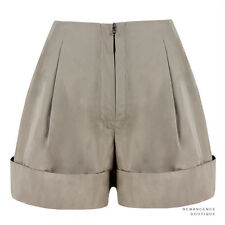 3.1 Phillip Lim Taupe Nude Rolled Cuff High-Rise Shorts US0 UK4