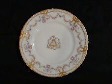 "Rare Theodore Haviland Limoges 8 1/2"" Garlands & Gold Ribbons Plate 1903 - 1957"