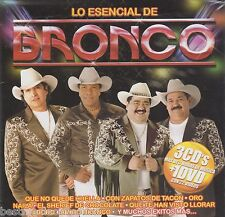 Lo Esencial De Bronco CD NEW Con 3 CDs y 1 DVD y Mas 82 Exitos Total