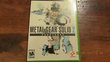 XBOX METAL GEAR SOLID 2 SUBSTANCE VIDEO GAME