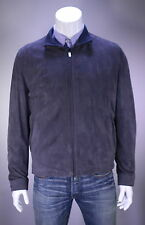 NWT New * KITON * $9376 Current Model Gray Lambskin Suede Bomber Jacket~ 44/XL