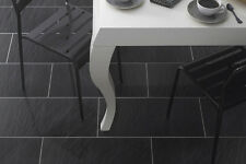 £11.99m2 Black Porcelain Tiles - Slate Effect Ant-slip wall/Floor 60x30cm SAMPLE