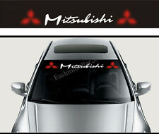 Front Windshield Banner Decal Car Stickers for Mitsubishi Logo Auto Accessories