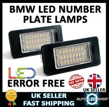BMW 5 SERIES E60 SALOON WHITE LED NUMBER PLATE LAMP LIGHT BULB UPGRADE UNITS