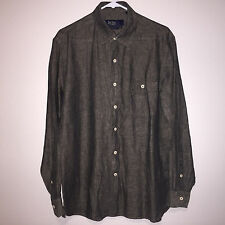 EUC MENS NAT NAST LINEN LONG SLEEVE BUTTON DOWN AMERICAN FIT SHIRT MEDIUM