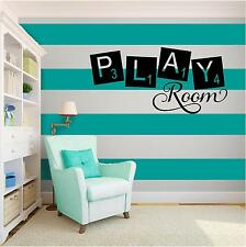 PLAY ROOM KIDS  Vinyl Wall Art quote Home Family Decor Decal Word & Phrase