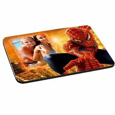 Spiderman Personalised Photo Added 5mm Thick Rectangle Mouse Mat/Pad