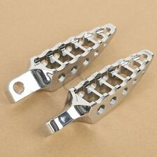 2 Pcs Chrome  45° Male-Mount Footrest Foot Pegs for Harley Sportster Dyna XL
