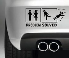 PROBLEM SOLVED CAR BUMPER STICKER FUNNY DRIFT JDM MAN TOLIET SIGN