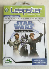 Leapfrog Leap Frog Leapster Game Cartridge Star Wars Jedi Math Complete CIB