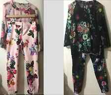 Ted Baker oil painting trousers and blouse size 2