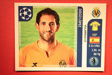 PANINI CHAMPIONS LEAGUE 2011/12 N 23 LOPEZ VILLARREAL WITH BLACK BACK MINT!!