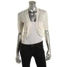 Lauren Ralph Lauren 1983 Womens White Cotton Blend Open Shrug Sweater L BHFO