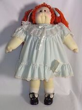 1981 Xavier Roberts Cabbage Patch Kid Soft Sculpture Little People Girl Doll