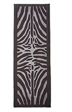 "$450 NEW FENDI Womens Silk Black Zebra Long Neck Scarf Shawl Wrap 40"" x 80"" TAG"