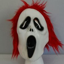 Scream Movie RED Hair Latex Halloween Mask Costume Scary Face Horror NEW