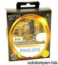 PHILIPS h4 COLORVISION GIALLO a forma di lampadina alogena 2er Set-ART. n. 12342 cvpys 2 Top