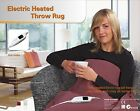 Heated Throw Rug / Electric Snuggle Blanket and Washable - Color Choices