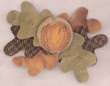 """Punchneedle Pattern by The Cooperage  """"Pumpkin Pin"""""""