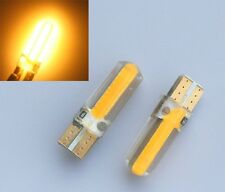 2x T10 168 194 W5W COB 20 SMD SILICA Super Bright LED Light Bulbs Yellow Amber
