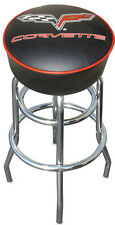 Corvette C6 C-6 Flag Racing Sign Black Bar Stool - NEW