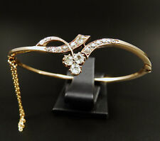 Antiker 1,75 ct Diamant Armreif 585 Rotgold Jugendstil Armband um 1890 Bangle