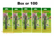 Box of 100 Counterfeit Money Detection Pen Marker Fake Dollar Bills Currency New