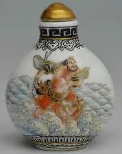 18c porcelain gold hand made drawing one of 8 immortal tieguaili snuff bottle