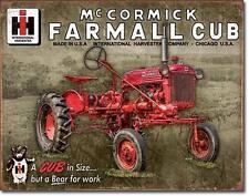 IHC McCormick Farmall Cub USA Traktor Metall Schild