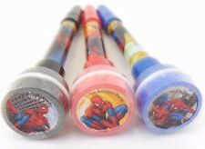 Marvel Spider-Man 3 in 1 Bubble, Stamp, Pen Red/Blue/Black NEW 3 Piece Set
