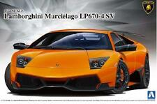 Aoshima 1/24 Model Super Car Kit Lamborghini Murcielago LP670-4 SV SuperVeloce
