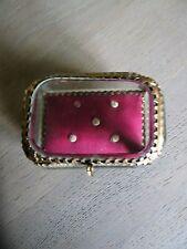 Boite/coffret à bijoux,jewelry box/vitrine Napoléon III verre biseauté XIXème