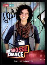Philipp Genetti Die Grosse Chance Autogrammkarte Original Signiert ## BC 10886
