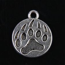 25pcs Tibetan Silver Bear's Paw Print Pendants Charms for Jewelry Making ABF214