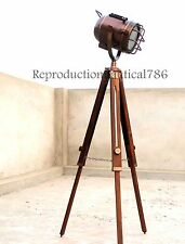 Copper Finish Studio Spot Lamp Light E 27 Bulb Vintage Floor Lamp W/ Tripod Gift