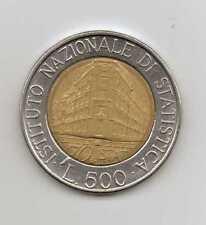 ITALY - 500 LIRE 1995 - ISTITUTO NAZIONALE DI STATISTICA - Fine Condition