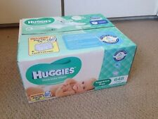 648 HUGGIES Thick Baby Wet Wipes + Case Tub Bulk Fragrance & Alcohol Free