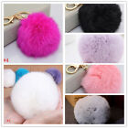 Soft Cute Rabbit Fur Ball PomPom Car Cell Phone Pendant Handbag Key Chain Ring