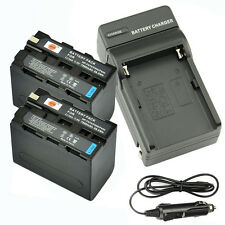 DSTE 2x NP-F970 Battery + Travel and Car Charger For Sony HDR-FX1 DCR-VX2100E