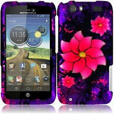 For AT&T Motorola Atrix HD MB886 HARD Case Snap On Phone Cover Divine Flowers