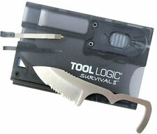 "S.O.G. SOG Tool Logic Survival Card W/ Light  2"" Blade Firestarter, Compass SVC2"