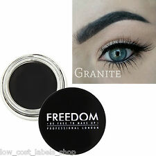 Freedom Makeup Eyebrow HD Brow Definition Gel - Pro Brow Pomade Granite