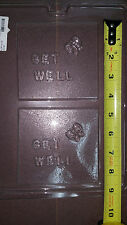 "Zodiac Plaque Get Well Mold Chocolate Candy Plastic 2 cavities  LOP G-16 4""x4"""