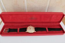 1958 9K SOLID GOLD OMEGA 17 JEWELLED WRIST WATCH CAL 267 IN FULL WORKING ORDER